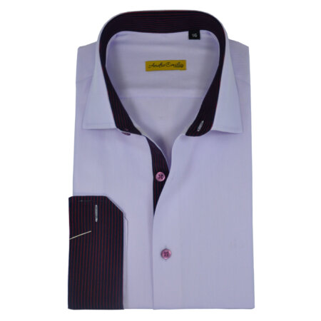 Formal White Modern Fit Shirt 8