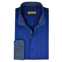 Navy Blue Formal Shirts for Men 3