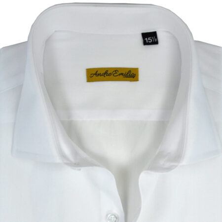 White Color Self Texture Formal Shirt 7