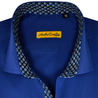 Navy Blue Formal Shirts for Men 4