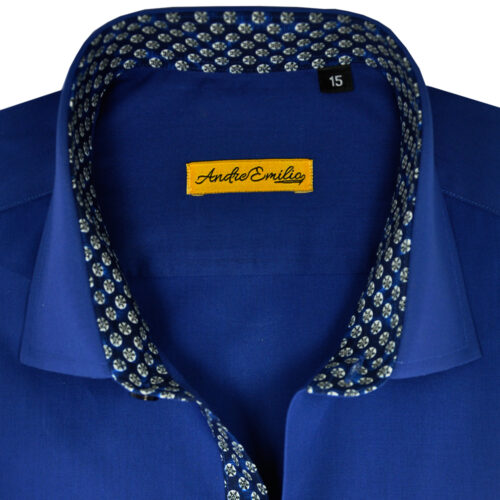 Navy Blue Formal Shirts for Men 1