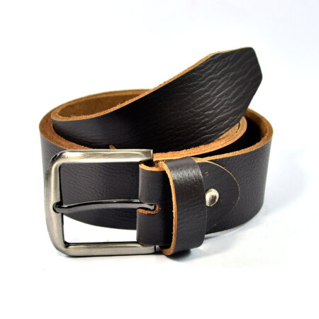 Stylish Black Leather Belt 3