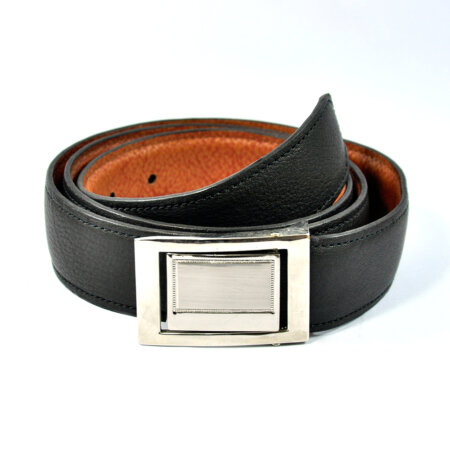 Stylish Black Leather Belt 5