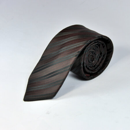 Black Reyone & Polyester Mix Hand Made Tie & Pocket Square 6