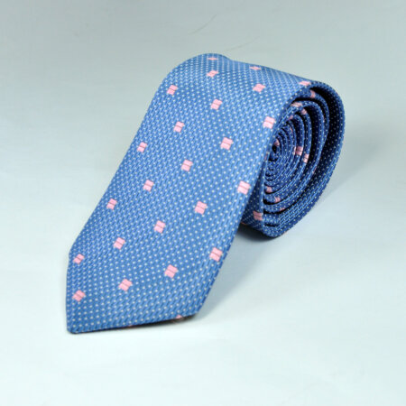 Navy Blue Silk Bow Tie with Matching Pocket Square 3