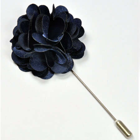 Dark Maroon Floral Lapel Pin 4
