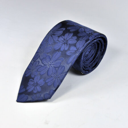 Navy Blue Multi Color Knitted Tie 3
