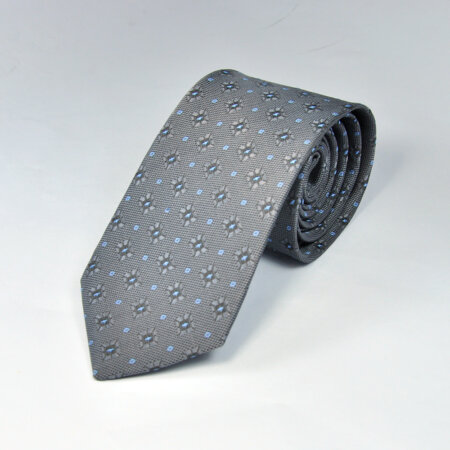 Black Reyone & Polyester Mix Hand Made Tie & Pocket Square 7