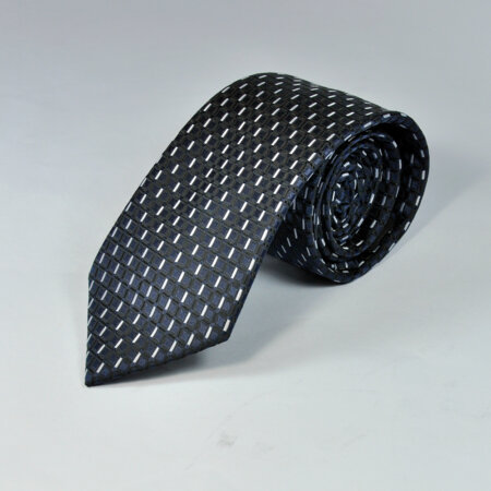 Navy Blue Multi Color Knitted Tie 4