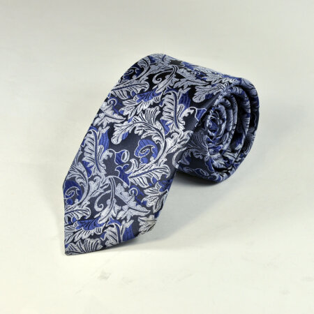 Black Reyone & Polyester Mix Hand Made Tie & Pocket Square 5