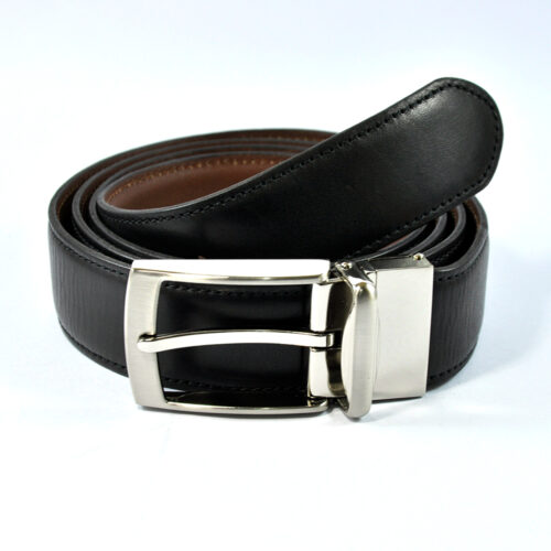 Stylish Black Leather Belt 1