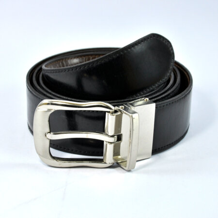 Stylish Black Leather Belt 4