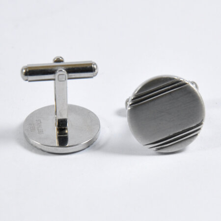 Round Shape Silver Cufflinks for Men 6