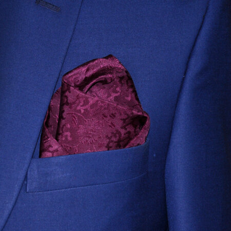 Brown Checked Pocket Square 2
