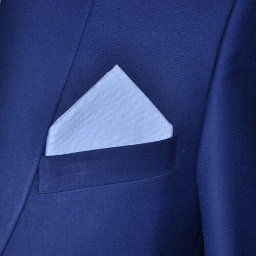 Sky Blue Pocket Square 1