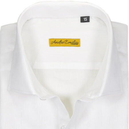 White Shirt with Paisley Pattern Contrast 2