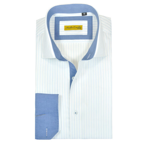 formal shirt with blue Stripes