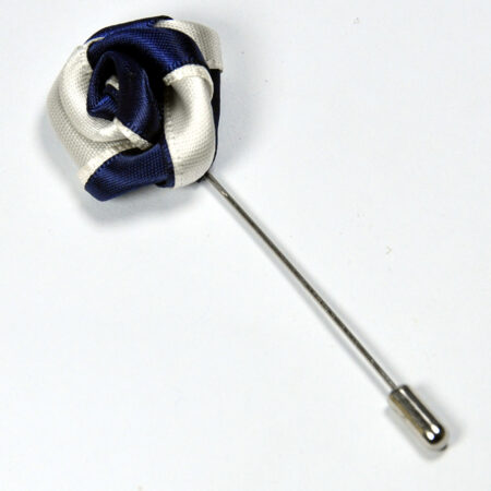 Stylish Silver Round Shape Lapel Pin 1