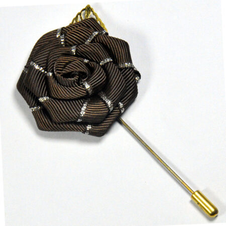 Brown Flower & Patel Lapel Pin