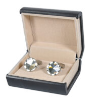 Round Shape Silver Cufflinks for Men 4