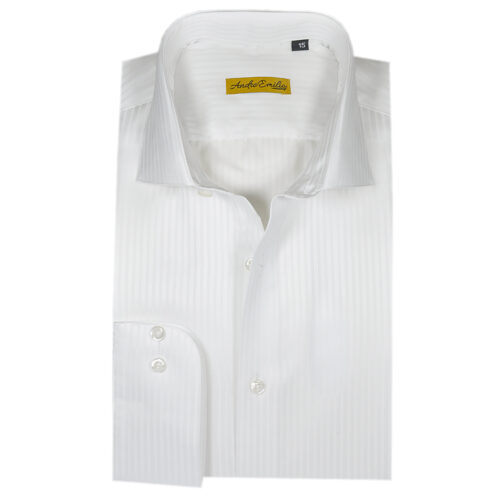 White Lining Texture Formal Shirt 1