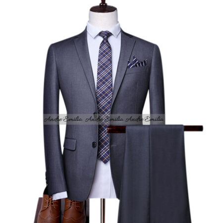Grey Customize Stylish 2 Piece Suit for Mens