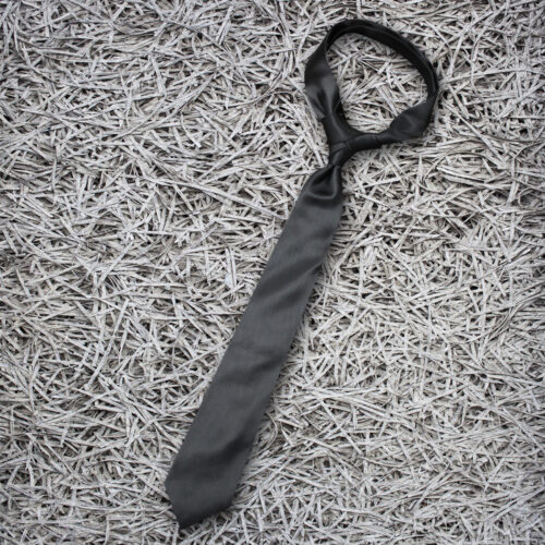 Black Reyone & Polyester Mix Hand Made Tie