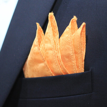 Hand Made Orange Jamawar Tie