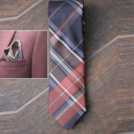 Mix Colour Rayon & Polyester mix Hand made Tie & Pocket Square
