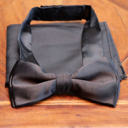 Menswear Classic Brown and Black Contrast Bow Tie