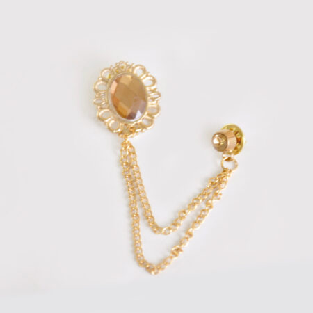 Champagne Mirror Broach for Men