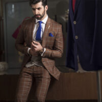 3-Piece Window-pane Suit 2