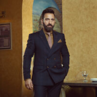 Navy Blue Double Breasted Suit 3