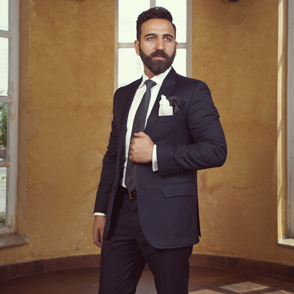 Solid Charcoal Grey 2-Piece Suit