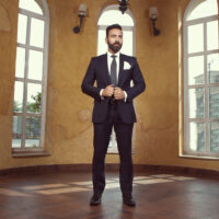 Solid Charcoal Grey 2-Piece Suit 2