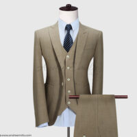 Customize Camel-khaki 3 Piece Suit 1