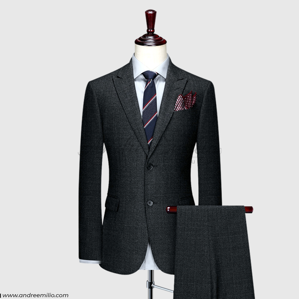 Charcoal Cashmere Wool Suit
