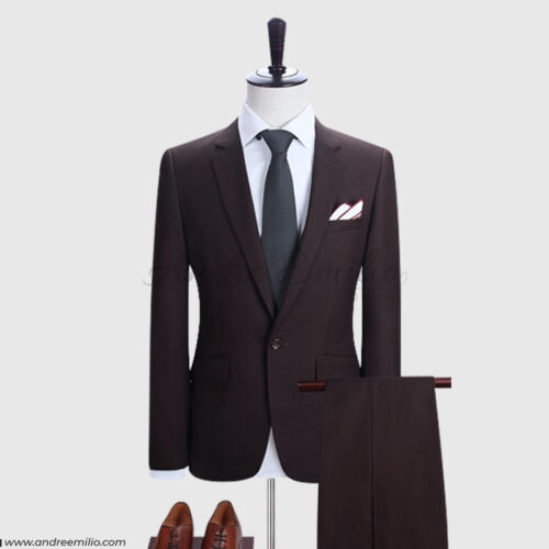 Maroon 2 Piece Suit