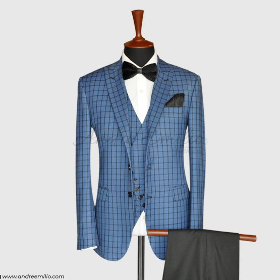 Check 3 Piece Suit