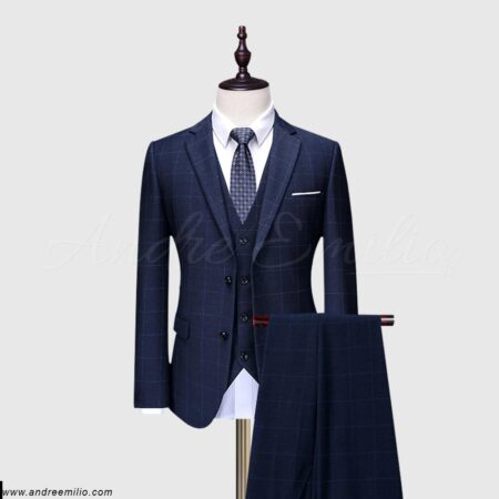 3 piece navy blue suit