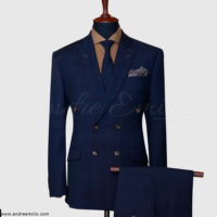 Navy Blue Double Breasted Suit 1