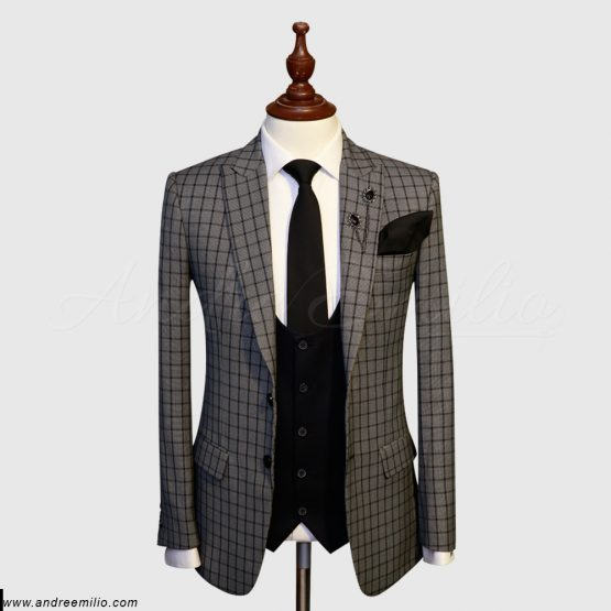 Grey Check 3 Piece Suit