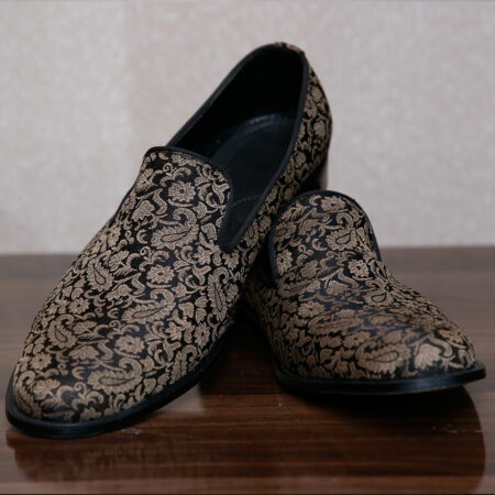 Gold Suede Loafers (1)