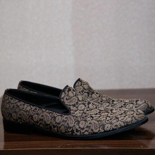 Gold Suede Loafers (2)