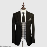 Jet Black 3 Piece Suit 1