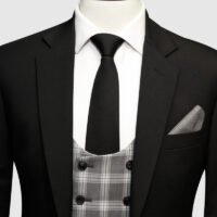 Jet Black 3 Piece Suit 2