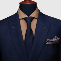 Navy Blue Double Breasted Suit 2