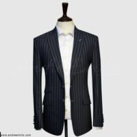 Black Lining Blazer with Ticket Pocket 1