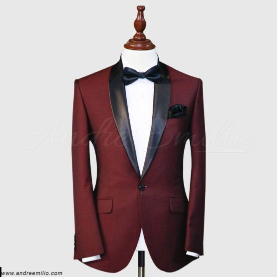 Chinese Tropical Maroon Tuxedo