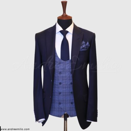 Men's Regular Fit Two Button 3 Piece Suit